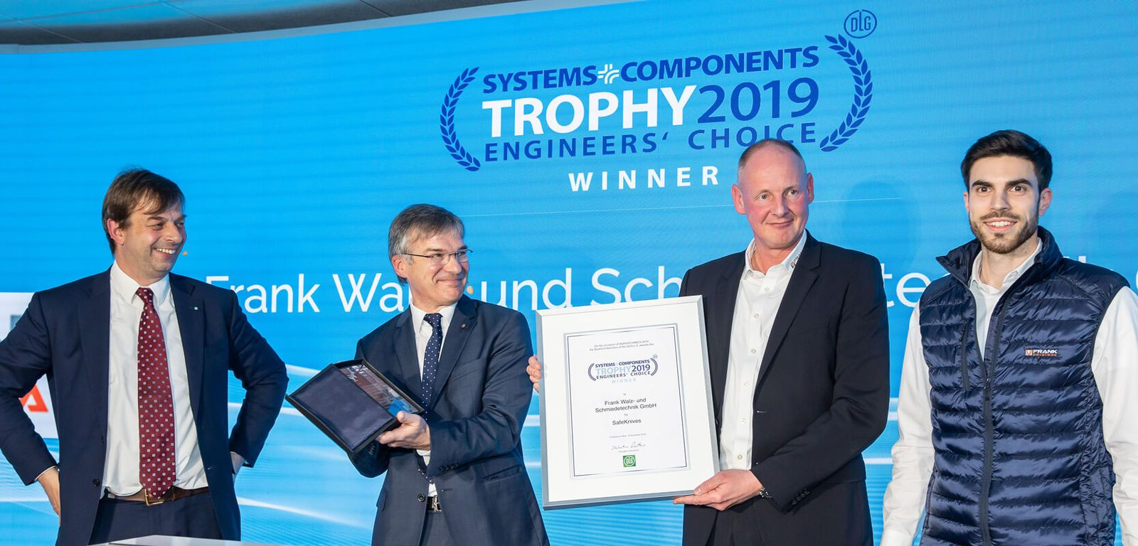 FRANK gewinnt Systems & Components Trophy – Engineers' Choice